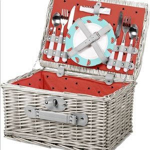 NWT Picnic Time Watermelon Collection Basket